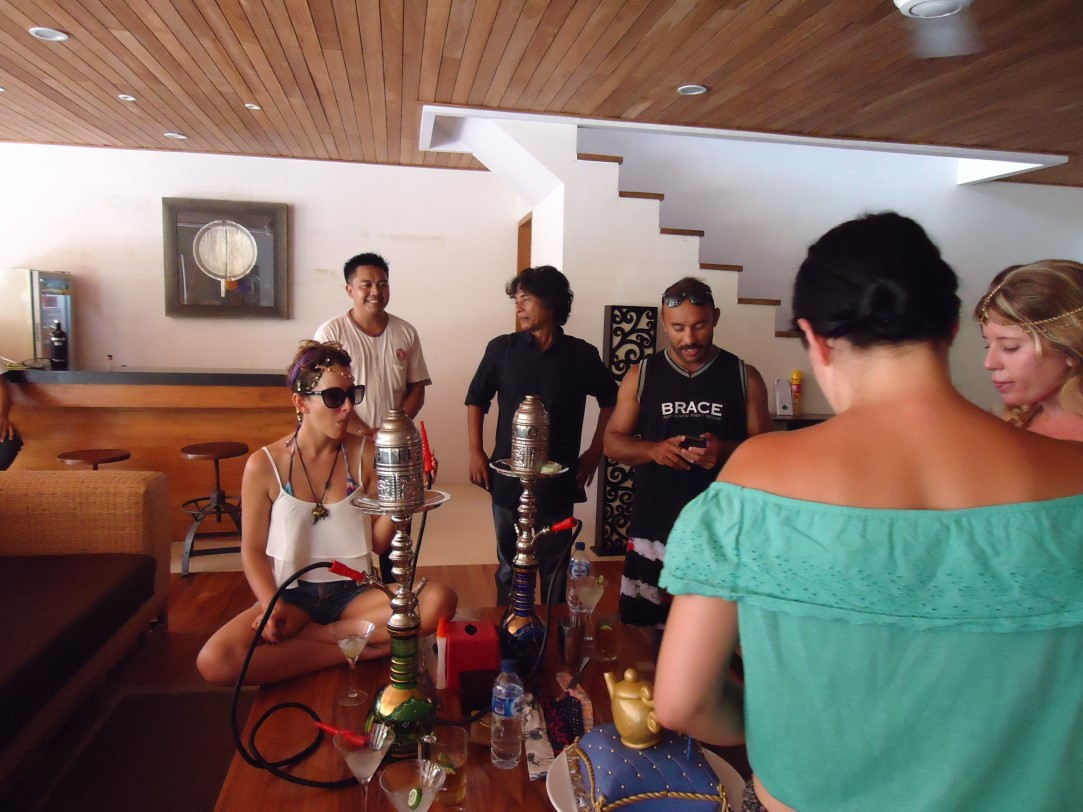Shisha : The perfect addition to all those drinks and socializing Villa Kinara